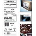 Etichete dymo pt. carti de vizita din hartie alba (89 x 41 mm) 300 buc/rola,DYMO
