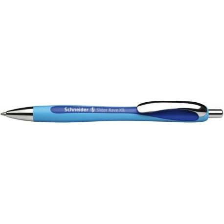 Pix SCHNEIDER Slider Rave XB, rubber grip, accesorii metalice - scriere albastra