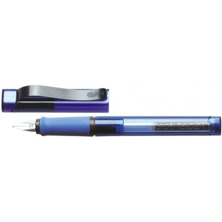 Stilou SCHNEIDER Base ( tip M medium )-Bleu transparent