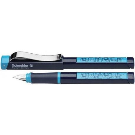 Stilou SCHNEIDER Base Neon (tip L- stangaci) - corp negru/albastru neon