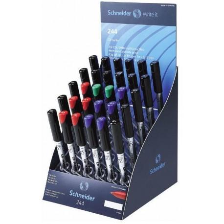 Display SCHNEIDER Maxx 244, 30 CD-markere - (18 negru, 6 x albastru, 6 x rosu)