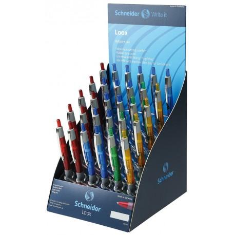 Display SCHNEIDER Loox, 30 pixuri - culori asortate - scriere albastra