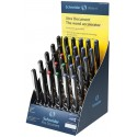 Display SCHNEIDER Xtra Document, 30 rollere cu cerneala 0.3mm - (12x albastru,negru, 3x rosu,verde)