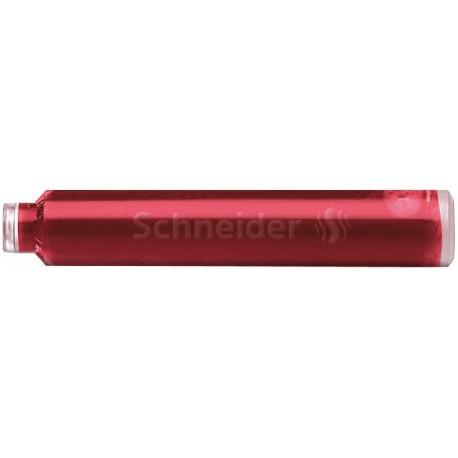 Patroane cerneala SCHNEIDER, 6buc/set - rosu