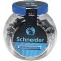 Patroane cerneala SCHNEIDER, 100buc/borcan - albastru
