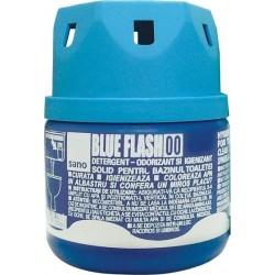 Odorizant solid pentru bazinul toaletei, 200gr. - SANO BLUE FLASH