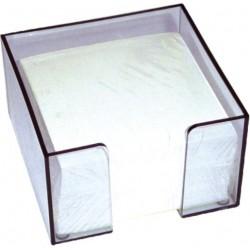 Suport plastic pt, cub hartie, 9x9x7 cm-Transparent