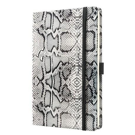 Caiet lux cu elastic, coperti imitatie crocodil, A5(130 x 200mm), 97 file, Conceptum -alb-matematica