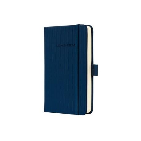 Caiet lux cu elastic, coperti softwave, A6(95 x 150mm), 97 file, Conceptum -Midnight blue-matematica