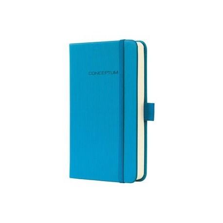 Caiet lux cu elastic, coperti softwave, A6(95 x 150mm), 97 file, Conceptum - Sky blue - matematica