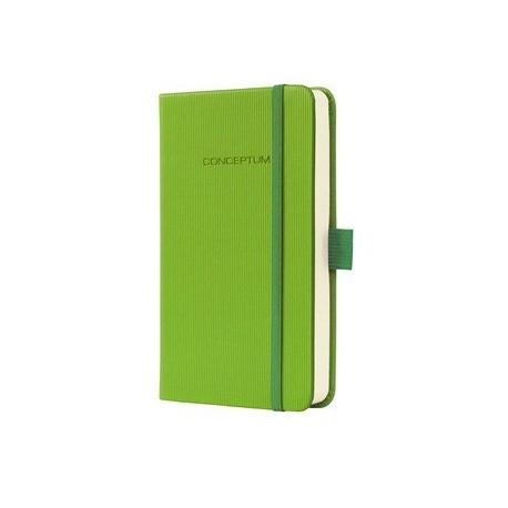 Caiet lux cu elastic, coperti softwave, A6(95 x 150mm), 97 file, Conceptum-Paradise green-matematica