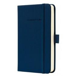 Caiet lux cu elastic, coperti softwave, A6(95 x 150mm), 97 file, Conceptum - Midnight blue -dictando
