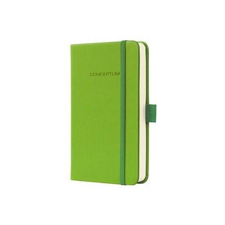 Caiet lux cu elastic, coperti softwave, A6(95 x 150mm), 97 file, Conceptum - Paradise green-dictando