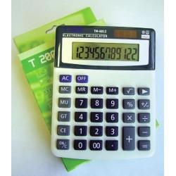 Calculator 12 dig, cu 4 taste de memorie si GT, culoare gri, taste negru cu gri , T2000