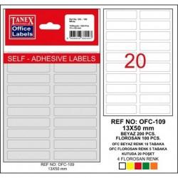 Etichete autoadezive albe, 13 x 50 mm, 200 buc/set, Tanex