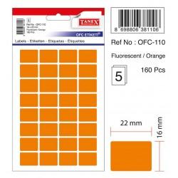 Etichete autoadezive albe, 16 x 22 mm, 320 buc/set, Tanex