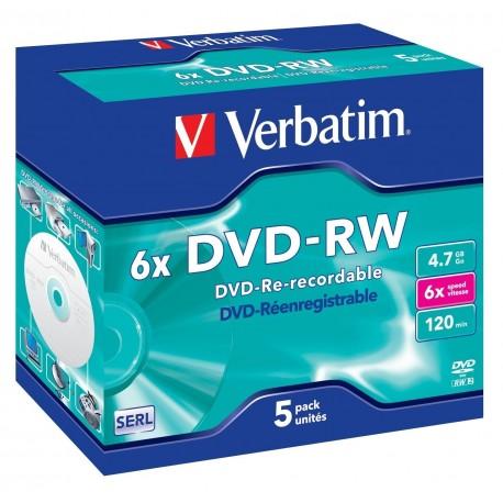 DVD-RW 4.7GB, 6x, VERBATIM