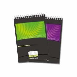 Blocnotes cu spirala, A5, 80 file - 90g/mp, microperforatii, AURORA Mano - matematica