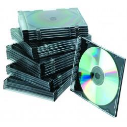 Carcasa slim pentru CD/DVD, 25 buc/set, Q-Connect