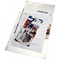 Folie protectie pentru documente A4 Maxi, 100 microni, 25buc/set, ESSELTE - transparent