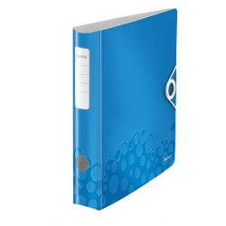 Biblioraft LEITZ Active Wow 180, 50mm, plastic PP - albastru metalizat