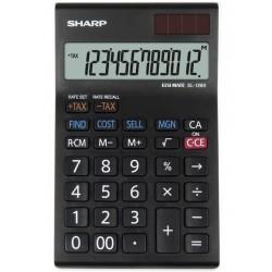 Calculator de birou, 12 digits, 155 x 97 x 12 mm, SHARP EL-128SWH - negru/alb