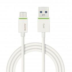 Cablu de date LEITZ Complete tip USB-C la tip USB-A, cu ieaire pân? la 3.1A, 1 m - alb