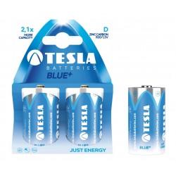 Baterii zinc carbon R20, 2 buc/set, Tesla Blue