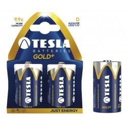 Baterii super alkaline R20, 2 buc/set, Tesla Gold