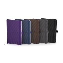 Caiet cu elastic, 9x14cm, OXFORD, coperta carton rigid, 80 file-90g/mp, dictando - culori clasice