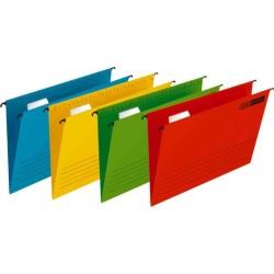 Dosar suspendabil cu eticheta, bagheta metalica, carton 230g/mp, 25 buc/cutie, Verticflex - albastru