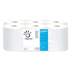 Rola prosop autocut alba, 2 straturi, neportionata, 140m, 6 role/bax, Papernet