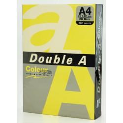 Hartie color pentru copiator A4, 80g/mp, 25coli/top, Double A - pastel yellow