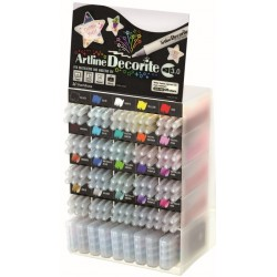 Display ARTLINE Decorite 3mm, 20 cul x 6 buc + 9set x 4 buc/display - diverse culori