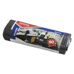 Saci menaj rezistenti negri 60L, 10buc/rola, Office Products