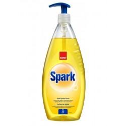 Detergent lichid pentru degresarea vaselor,1 litru, SANO Spark - cu miros de lamaie