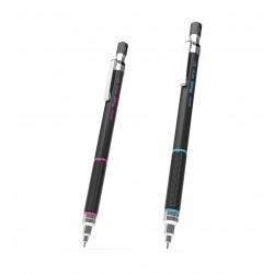 Creion mecanic profesional PENAC Protti PRC-107, 0.7mm, con metalic cu varf cilindric fix - albastru