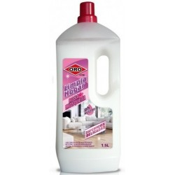 Solutie universala, pt. podele si suprafete lavabile, 1.5 litri, ph neutru, ORO - aroma trandafir