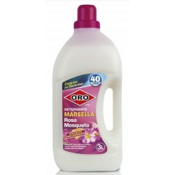 Detergent rufe, 3 litri, pentru masini automate, ORO Marsella - Rose Mosquee