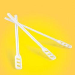 Lopetele din plastic, pentru cafea/ceai, 14cm lungime, 500buc/set, Office Products - albe