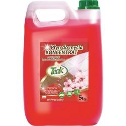 Detergent lichid universal, 5 litri, pentru toate tipurile de pardoseli, Teak - japanesse garden-roz