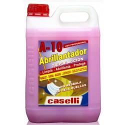 Detergent Caselli - A10, curatare, polishare, stralucire, pt. parchet si lemn, 5 litri - roz