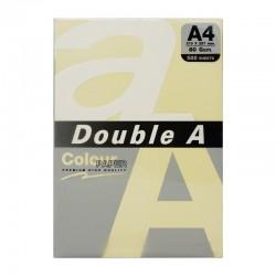 Hartie color pentru copiator A4, 80g/mp, 25coli/top, Double A - pastel yellow canary