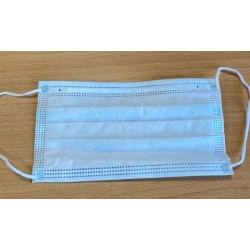 Masca de protectie, unica folosinta, 50 buc/set - alb/albastra