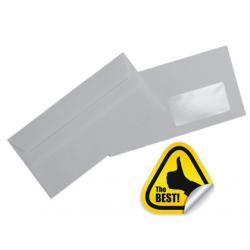 PLIC DL AUTOADEZIV (110x220 mm) fereastra dreapta 80 g/mp ALB, 1000 buc