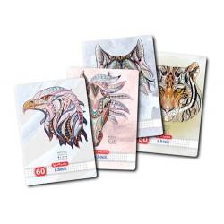 CAIET A4 60 FILE PATRATELE ETHNIC ANIMALS