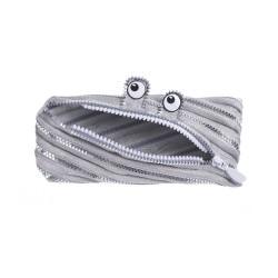 Penar cu fermoar, ZIPIT Monster Special Edition - argintiu