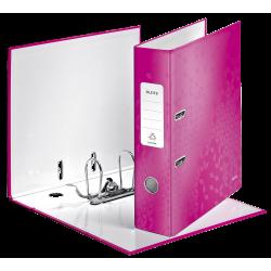 Biblioraft LEITZ 180 Wow, 85mm, plastic PP - roz metalizat
