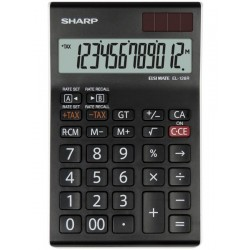 Calculator de birou, 12 digits, 155 x 97 x 12 mm, SHARP EL-126RWH - negru/alb