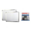 TABLA ALBA MAGNETICA 240x120 cm rama aluminiu + CADOU!!! (SET 4 MARKER WHITEBOARD + BURETE)